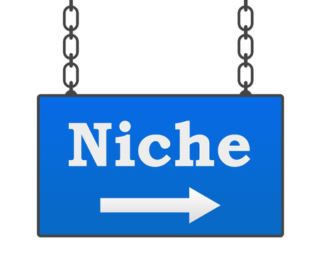 niche: Niche Blue Signboard Stock Photo
