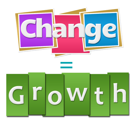 equals: Change Equals Growth Colorful Squares Stripes Stock Photo