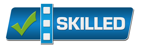 skilled: Skilled Blue Separator Horizontal