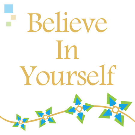 rely: Believe In Yourself Green Blue Floral Wave
