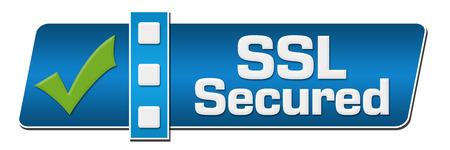 separator: SSL Secured Blue Separator Horizontal