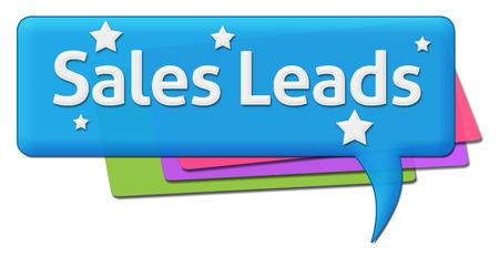 leads: Sales Leads Colorful Comments Symbols
