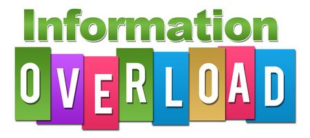 Informationsüberflutung Professionelle Bunte Standard-Bild - 60732558