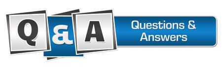 Q Et A Bleu Gris Squares Bar Banque d'images - 60732517