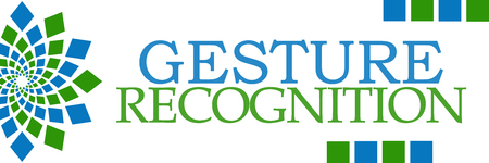 perceptual: Gesture Recognition Green Blue Horizontal Stock Photo