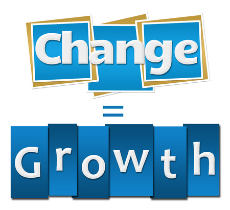 equals: Change Equals Growth Blue Squares Stripes Stock Photo