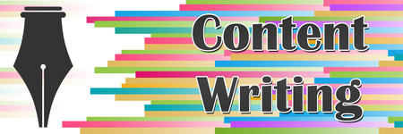 Content Writing Colorful Lines Horizontal