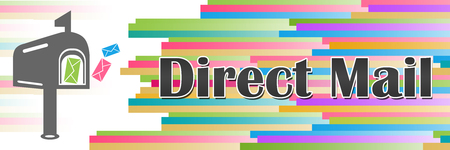 Direct Mail Colorful Lines Horizontal