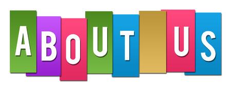 A propos de nous Stripes Colorful Banque d'images - 62983783