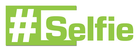 stripe: Selfie Green Horizontal Stripe Stock Photo