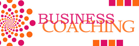 competences: Business Coaching Pink Orange Dots Horizontal