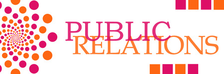 relaciones p�blicas: Public Relations Pink Orange Dots Horizontal