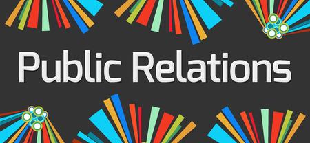 relaciones publicas: Relaciones Públicas oscuros elementos coloridos