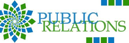 relations: Public Relations Green Blue Horizontal Stock Photo