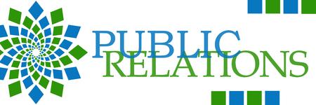 relaciones p�blicas: Relaciones p�blicas Verde Azul Horizontal