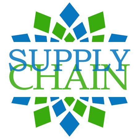 Supply Chain Green Blue Elements Square