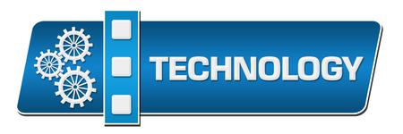 infotech: Technology Blue Separator Horizontal