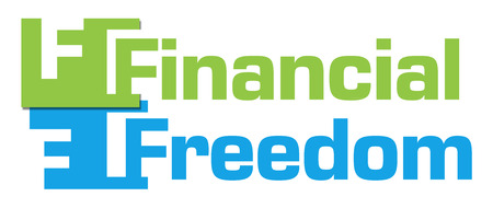 financial freedom: Financial Freedom Green Blue Abstract Stripes