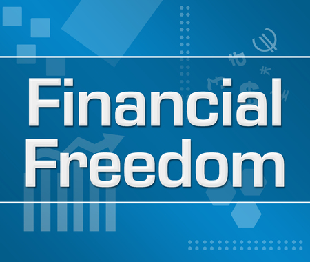 financial freedom: Financial Freedom Abstract Blue Background