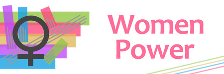 Women Power Colorful Stroked Stripes Stock Photo