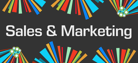 selling service: Sales And Marketing Dark Colorful Elements Stock Photo