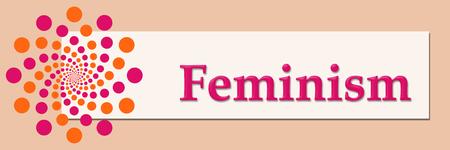 conflictos sociales: El feminismo de melocotón rosado Horizontal Naranja Foto de archivo