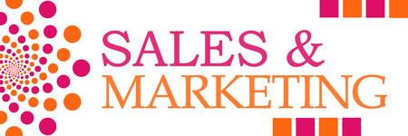 selling service: Sales And Marketing Pink Orange Dots Horizontal