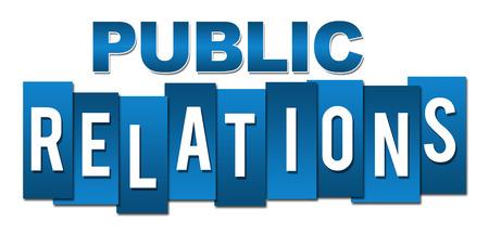 relaciones publicas: Las relaciones públicas profesionales azules