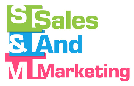 selling service: Sales And Marketing Abstract Colorful Stripes