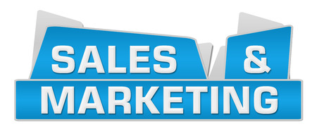 selling service: Sales And Marketing Blue Squares On Top