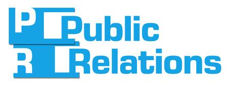 relaciones p�blicas: Public Relations Blue Abstract Stripes Foto de archivo