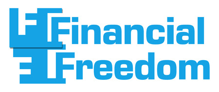 financial freedom: Financial Freedom Blue Abstract Stripes