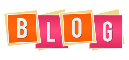 Blog Pink Orange Blocks