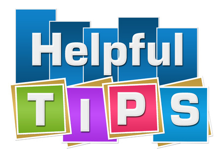 helpful: Helpful Tips Colorful Squares Stripes Stock Photo