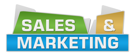 selling service: Sales And Marketing Colorful Squares On Top Stock Photo