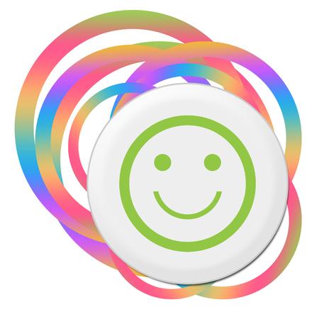 Smily Face Random Colorful Rings