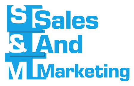selling service: Sales And Marketing Blue Abstract Stripes Stock Photo