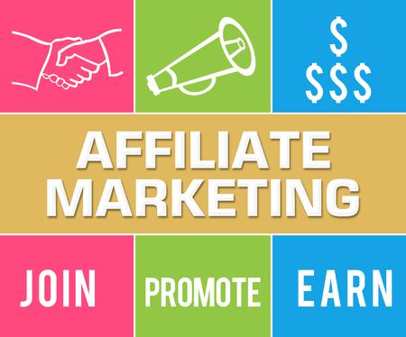 affiliate marketing: Affiliate Marketing Colorful Grid Stock Photo