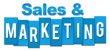 selling service: Sales And Marketing Professional Blue Stripes