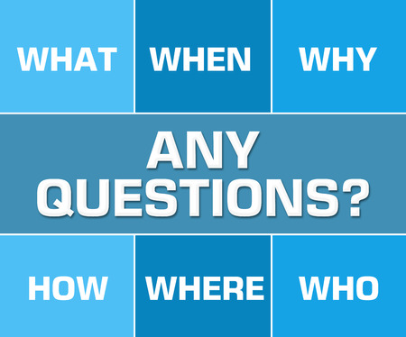 questions: Any Questions Blue Grid