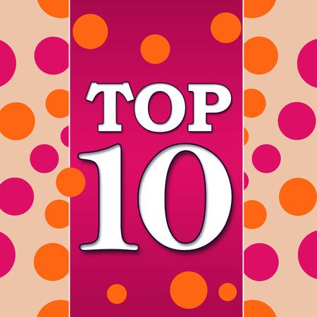top ten: Top Ten Pink Orange Square Stock Photo