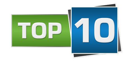 top ten: Top Ten Green Blue Horizontal
