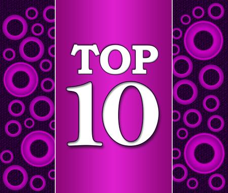 top ten: Top Ten Purple Pink Background