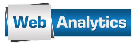 predictive: Web Analytics Blue Grey Horizontal Stock Photo