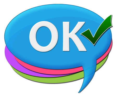 comments: Ok Colorful Rounded Comments Symbol