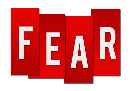 fear: Fear Red Stripes Stock Photo