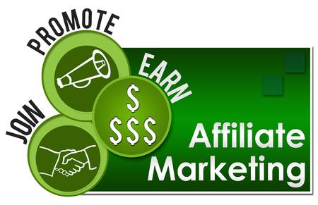 Affiliate marketing Trois cercles verts Banque d'images - 64009693