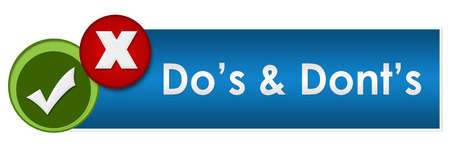 dos: Dos And Donts Two Green Red Circles Stock Photo