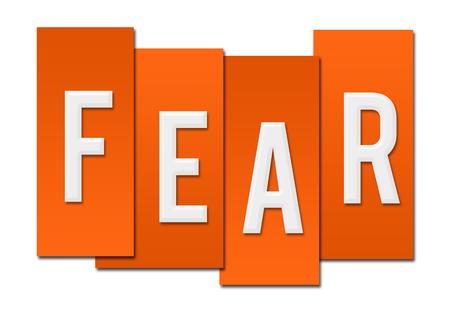 fear: Fear Orange Stripes Stock Photo
