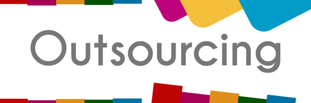 Outsourcing Colorful Abstract Shapes Stock Photo